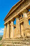 Concordia Temple. Valley of the Temples, Agrigento on Sicily, It