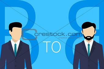 B2B concept illustration