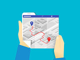 Mobile app for gps navigation