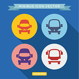 logo icon buses, into a flat, vector illustration