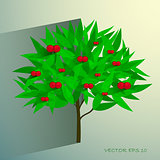 vector cherry tree