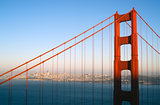 Sunset San Francisco Golden Gate Bridge Pacific Ocean West Coast