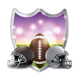 American Football Emblem Illustration