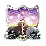 American Football Emblem Illustration