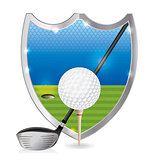 Golf Emblem Illustration