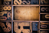 Vintage Letterpress type in Drawer
