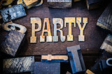 Party Concept Wood and Rusted Metal Letters