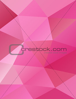 Abstract Pink Triangles Background