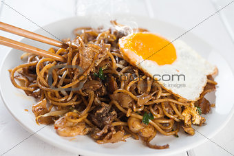 Asian dish Char Kuey Teow