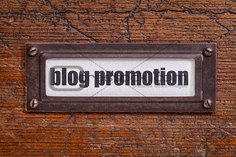 blog promotion label