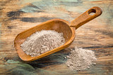 scoop of buckwheat flour