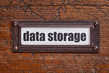 data storage file cabinet  label