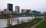 Dayton Ohio Waterfront Downtown City Skyline Miami River