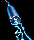 Energy power supply battery blue sparks