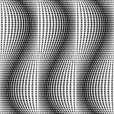 Design seamless monochrome dots pattern