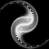 Design monochrome whirlpool movement background