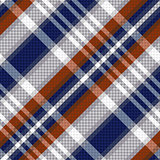 Diagonal tartan seamless texture in blue and light grey hues