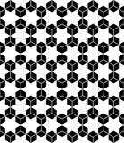 Hexagons and hexagrams seamless pattern.