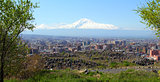 Mount Ararat and Yerevan city.
