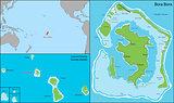 Bora bora map