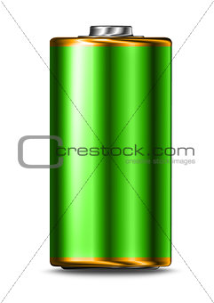 Green energy battery cell isolated