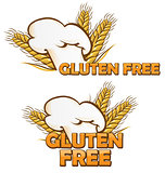 gluten free symbol set isolated on white background