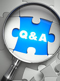 Question and Answer - Missing Puzzle Piece through Magnifier.