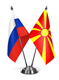Russia and Macedonia - Miniature Flags.