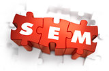 SEM - Text on Red Puzzles.