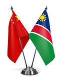 China and Namibia - Miniature Flags.