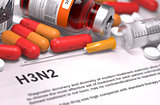 Diagnisis - H3N2. Medical Concept.
