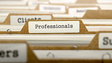 Professionals Concept with Word on Folder.