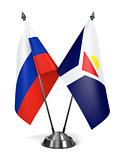 Russia and Saint-Martin of Miniature Flags.