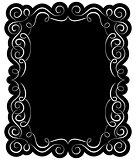 Vector black frame with elegant border