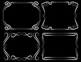 Set of vector framework. White on black