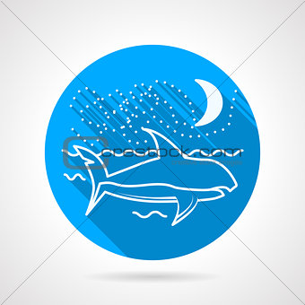 Flat vector icon for shark