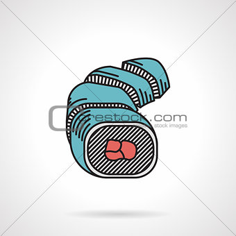 Flat vector icon for sushi