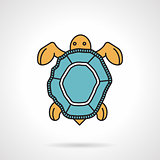 Flat vector icon for sea turtle