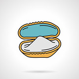 Flat vector icon for mussel