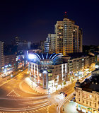 Kiev City - the Capital of Ukraine. Night areal View