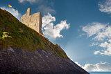 ballybunion castle on the cliff face