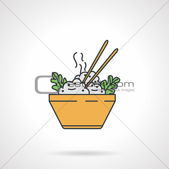 Flat vector icon for rice dish