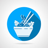 Rice dish flat round vector icon