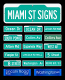 Miami Street Signs