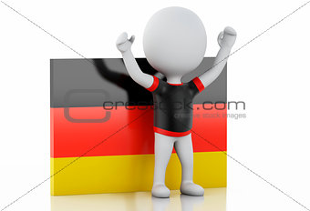 3d white people with Germany flag.
