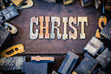Christ Concept Rusty Type