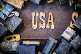 USA Concept Rusty Type