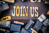 Join Us Concept Rusty Type