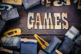 Games Concept Rusty Type