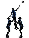 rugby men players silhouette